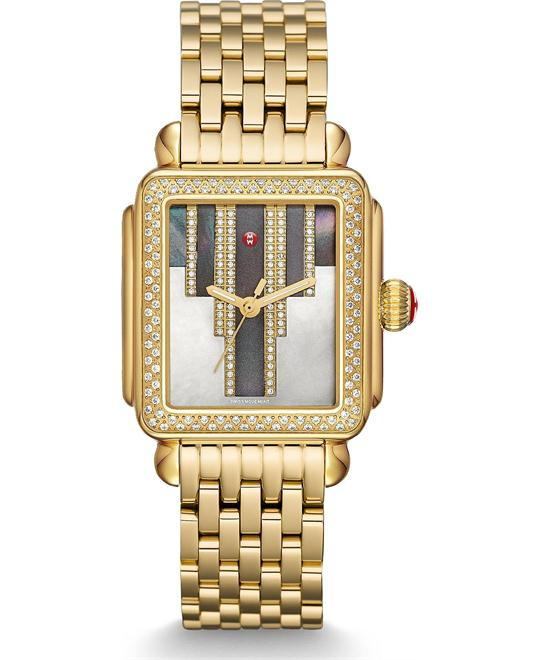 Michile Deco Skyline Diamond Cocoa Watch 33*35mm