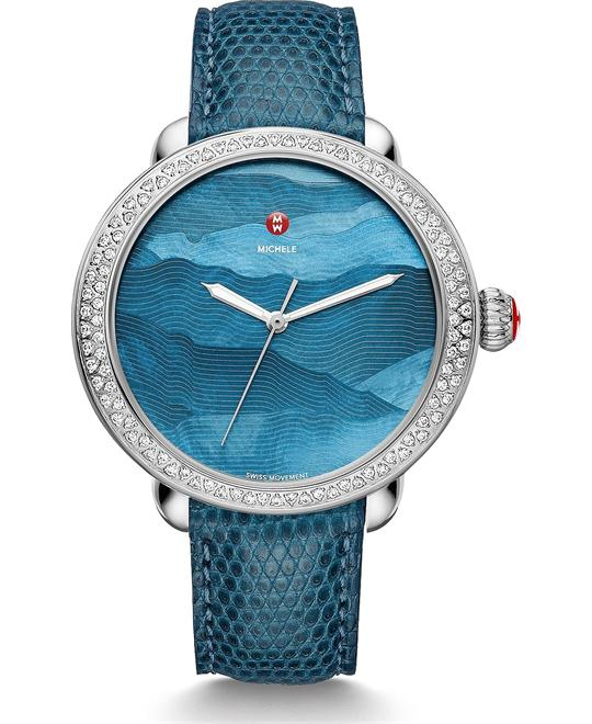 Michile Serein Diamond Teal Gradient Blue Watch 40*38mm