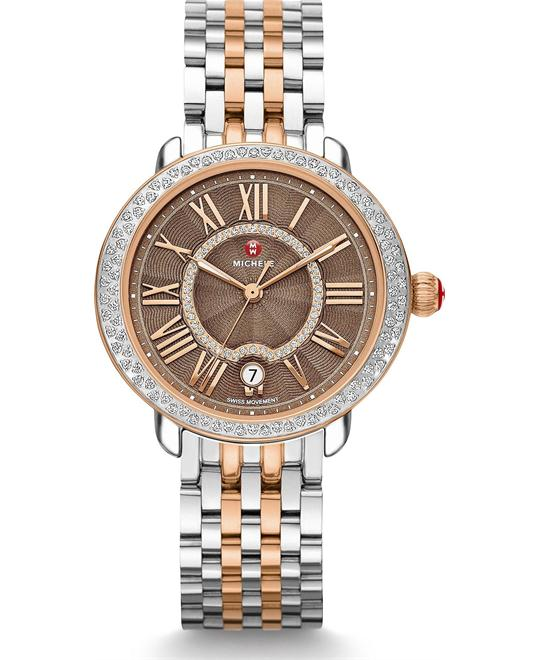Michile Serein Mid Diamond Cocoa Watch 36*34mm