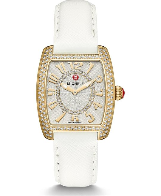 Michile Urban Mini Diamond Gold White Watch 29*30mm