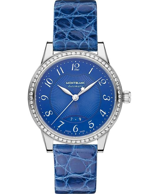 Montblanc Bohème 111291 Automatic Blue Leather Ladies 37mm