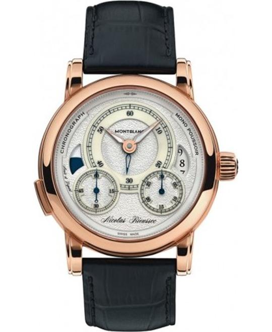 Montblanc Nicolas Riessec 112358 Chronograph Gold Limited 43mm