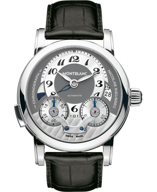Montblanc Nicolas Rieussec 102337 Automatic Black Leather 43mm