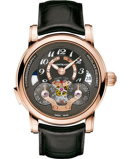Montblanc Nicolas Rieussec 107067 Red Gold Automatic 43mm