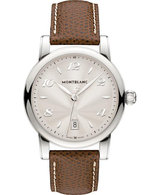 đồng hồ Montblanc Star 108762 Silver Dial Brown Leather 39mm