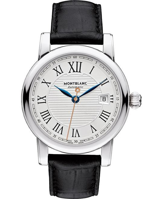 Montblanc Star 113644 White Dial Leather 43mm