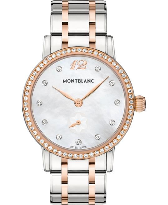 Montblanc Star Classique 110643 Gold & Diamonds Quartz 37mm