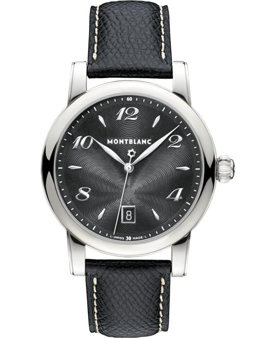 Montblanc Star Date Leather Quartz Watch 108763 40mm