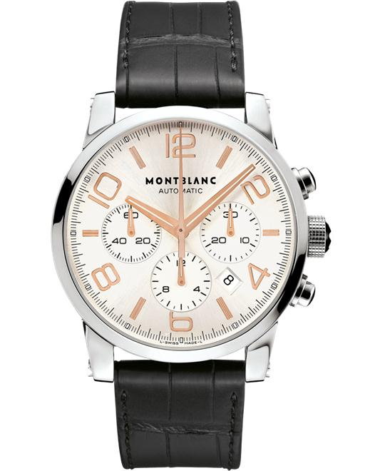 Montblanc TimeWalker 101549 Automatic Alligator Men's Watch 43mm