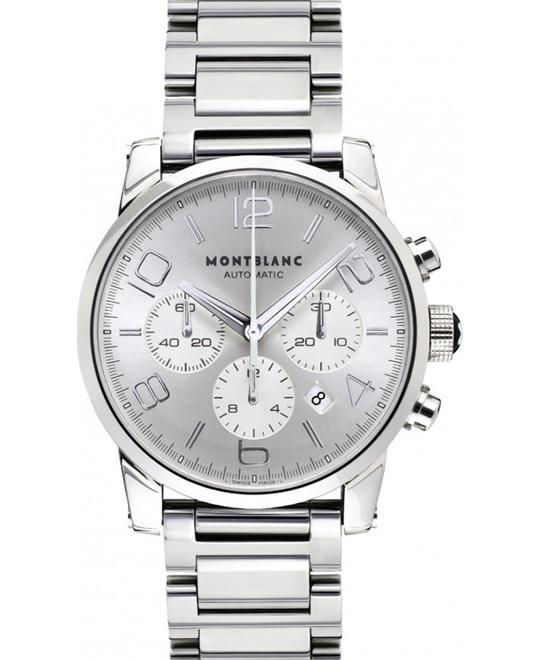 Montblanc Timewalker 9669 Silver Dial Steel Case 43mm
