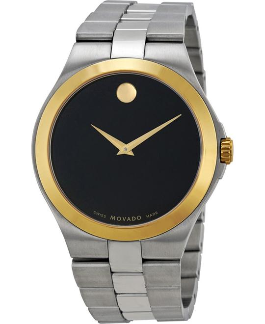 MOVADO Black Dial Two-Tone Stainless Steel Men's Watch 40mm