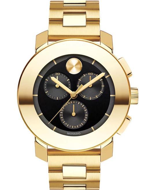 MOVADO Bold Black Chronograph Unisex Watch 38mm