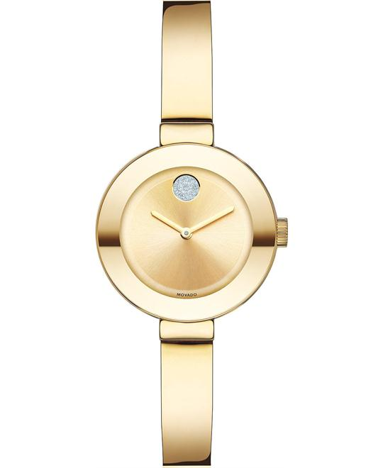 MOVADO Bold Champagne Sunray Gold Ion-Plated Watch 25mm