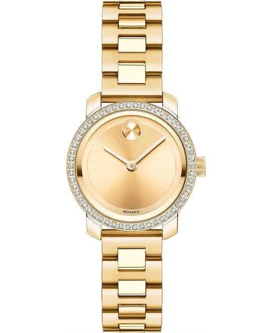 MOVADO Bold Diamond Bezel Ladies Watch 25mm