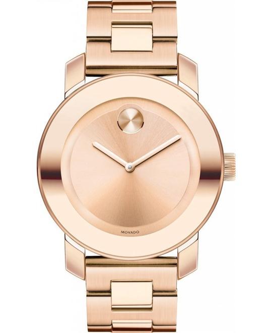 MOVADO Bold Rose Dial Rose Gold-toneUnisex Watch 36mm