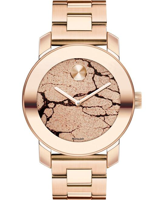 MOVADO Bold Rose Gold Glitter Ladies Watch 36mm