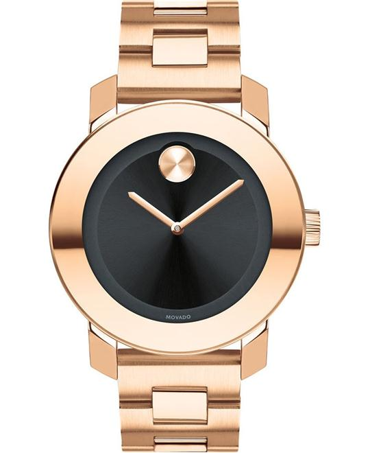 MOVADO Bold Sunray Unisex Rose Gold Watch 36mm