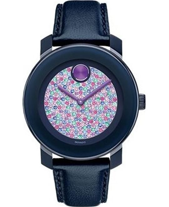 Movado Bold Swiss Navy Leather Watch 36mm