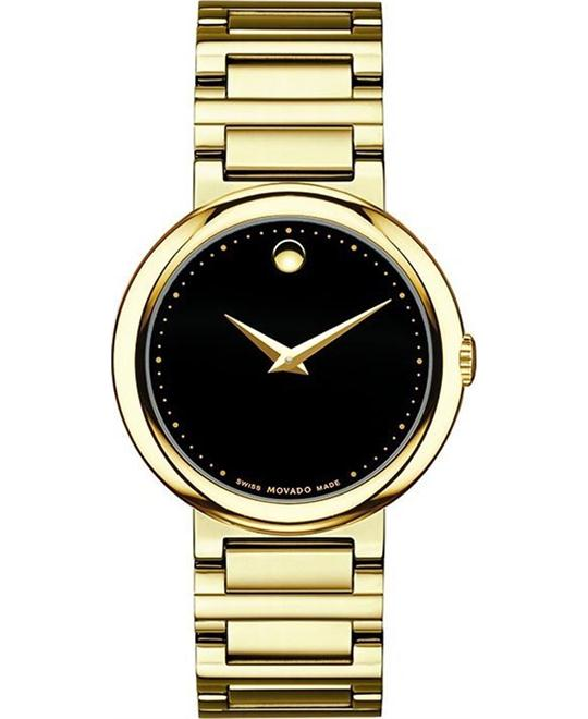 Movado Concerto Gold-Plated Ladies Watch 30mm