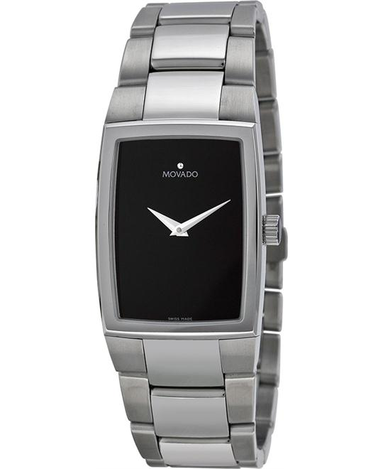 MOVADO Eliro Black Stainless Watch 24.75x32.4mm