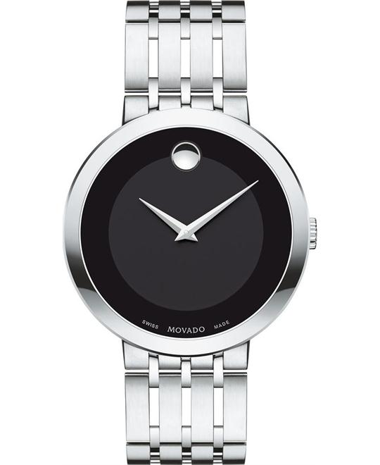 MOVADO Esperanza Black Dial Men's Stainless Steel Watch 39mm