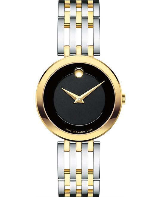 MOVADO Esperanza Black Museum Dial Ladies Watch 28mm