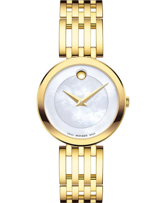 MOVADO Esperanza Gold Tone Stainless Steel Ladies Watch 28mm