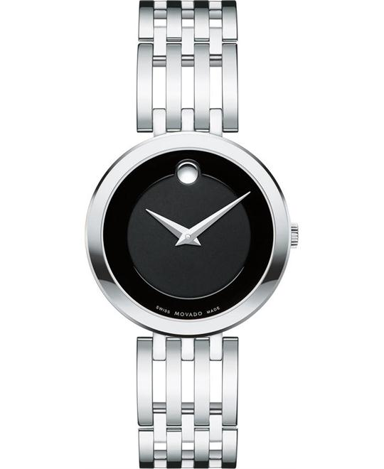 MOVADO Esperanza Matte Black Dial Ladies Watch 28mm