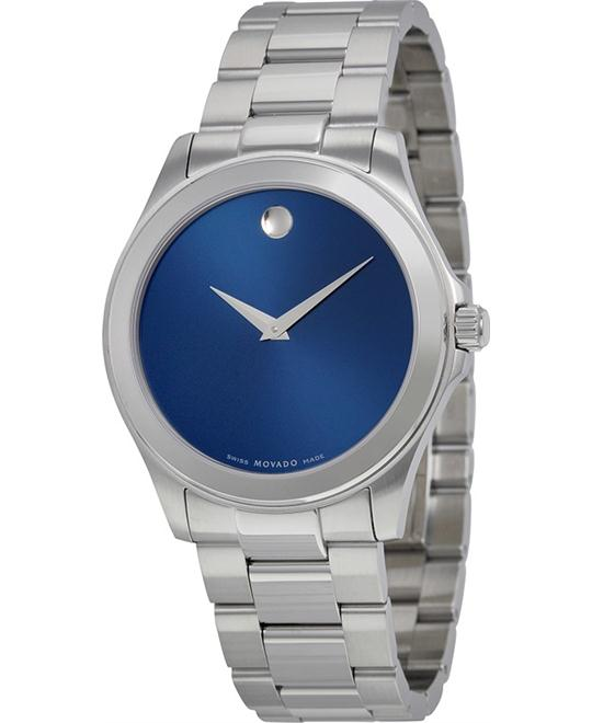 MOVADO Junior Sport Blue Dial Stainless Steel Watch 38mm