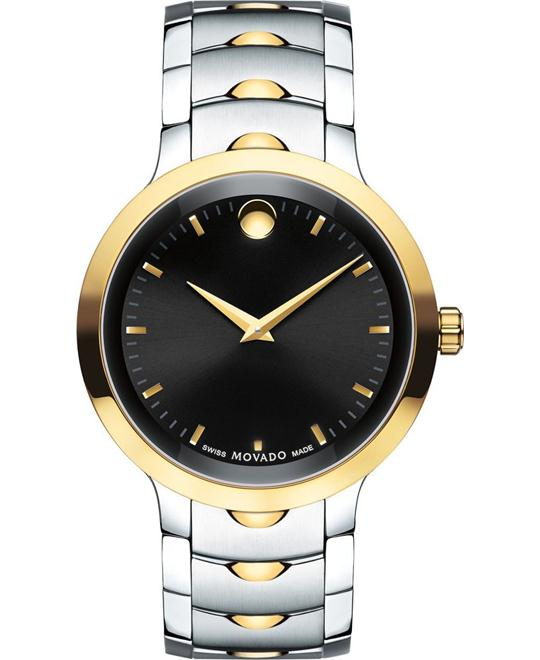 Movado Luno Yellow Gold PVD Men's Watch 40mm