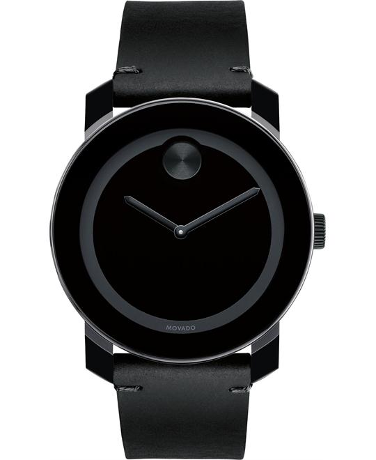 Movado Men's Swiss Bold Leather Strap Watch 42mm