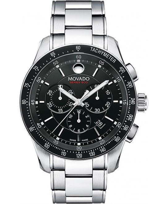 Movado Men's Swiss Chronograph Series 800 Watch 42mm