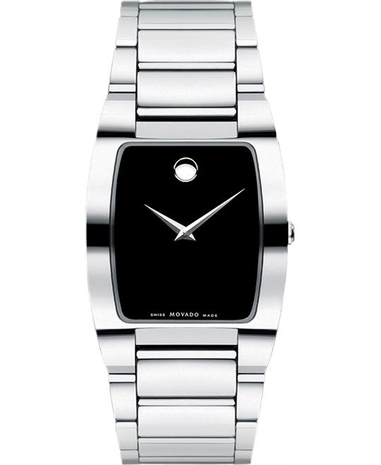Movado Men's Swiss Fiero Tungsten Carbide Watch 32mm