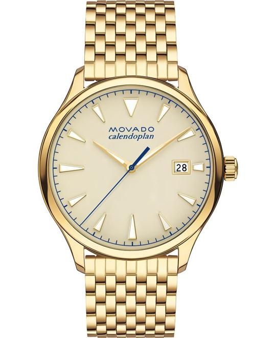 Movado Men's Swiss Heritage Gold-Tone watch 40mm