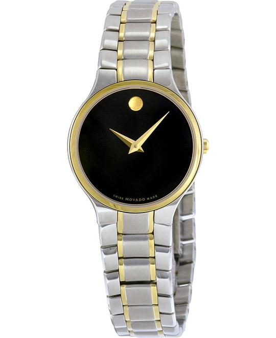 MOVADO Serio Black Stainless Steel Ladies Watch 26mm