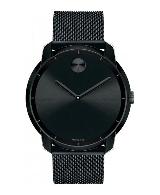 MOVADO Swiss Bold Black Ion-Plated Watch 44mm