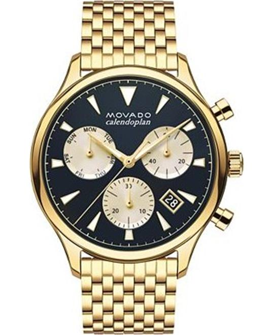 Movado Swiss Chronograph Heritage Gold-Tone watch 43mm