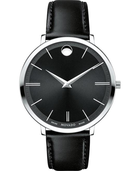 đồng hồ MOVADO Ultra Slim Black Sunray Dial Ladies Watch 35mm