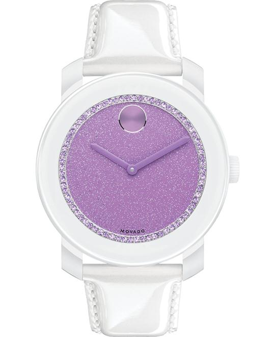 Movado Unisex Swiss Pearlized Patent Wacth 42mm