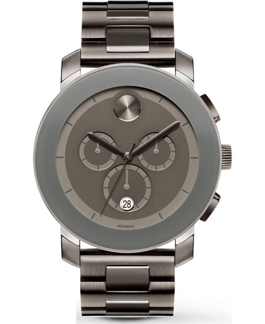 Movado Unisex Swiss Chronograph Bold Gray Watch 44mm