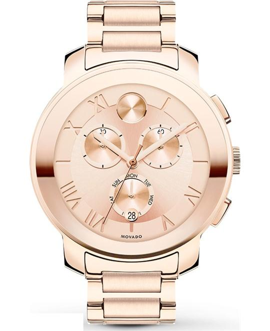 Movado Bold Women's Rose Gold-Tone Watch 40mm