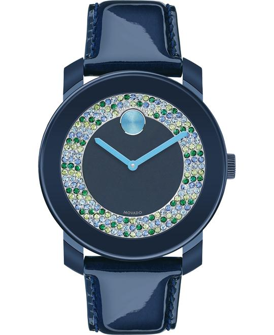 Movado Women's Swiss Bold Navy Patent Watch 36mm