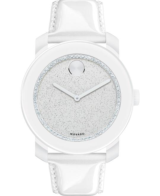Movado Women's Swiss Bold Pearlized White Watch 42mm