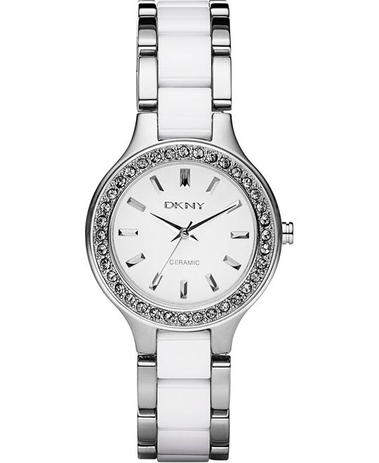 DKNY Quartz White Dial Women's Watch  30mm