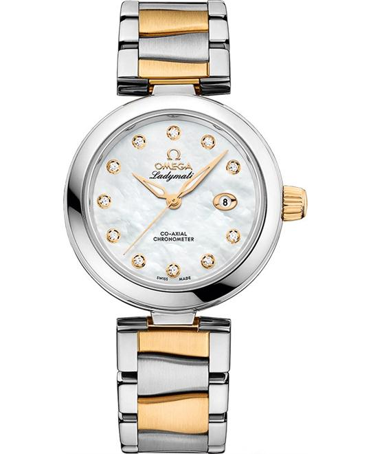 đồng hồ Omega 425.20.34.20.55.003 DeVille Ladymatic Watch 34mm