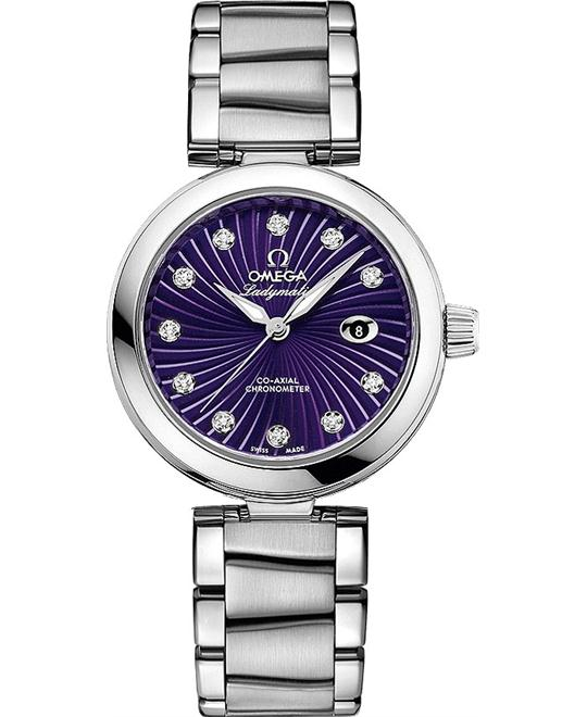 đồng hồ Omega 425.30.34.20.60.001 De Ville Ladymatic Watch 34mm