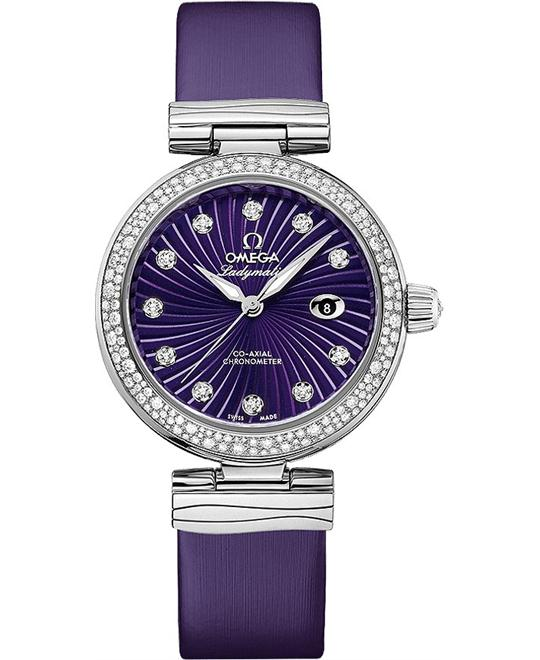 đồng hồ Omega 425.37.34.20.60.001 DeVille Ladymatic Watch 34mm