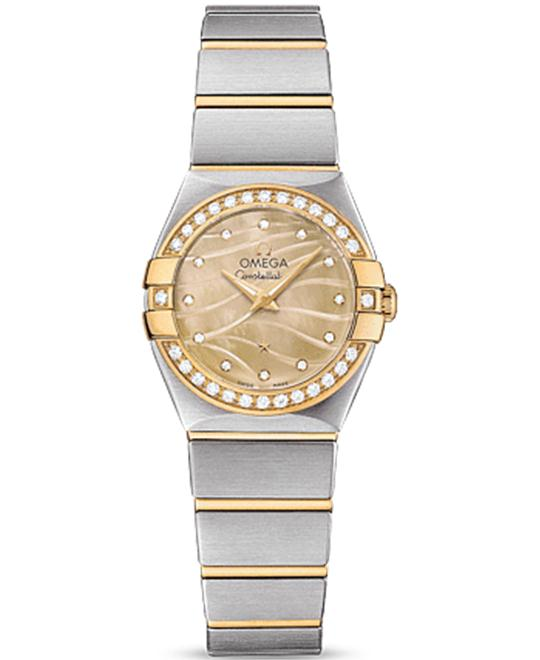 OMEGA Constellation Champagne Diamond Ladies Watch 24mm