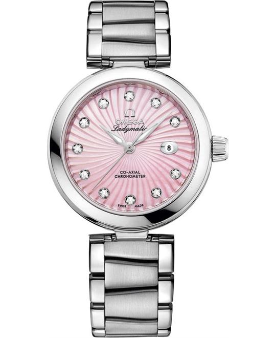 đồng hồ Omega 425.30.34.20.57.001 De Ville Ladymatic Watch 34mm