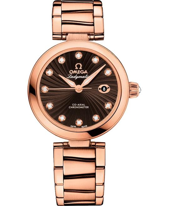 Omega 425.60.34.20.63.001 De Ville Ladymatic Watch 34mm